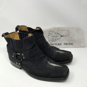 Black Stingray Custom Handmade Boots sz 13/14